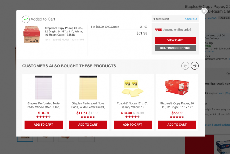 staples recommendations
